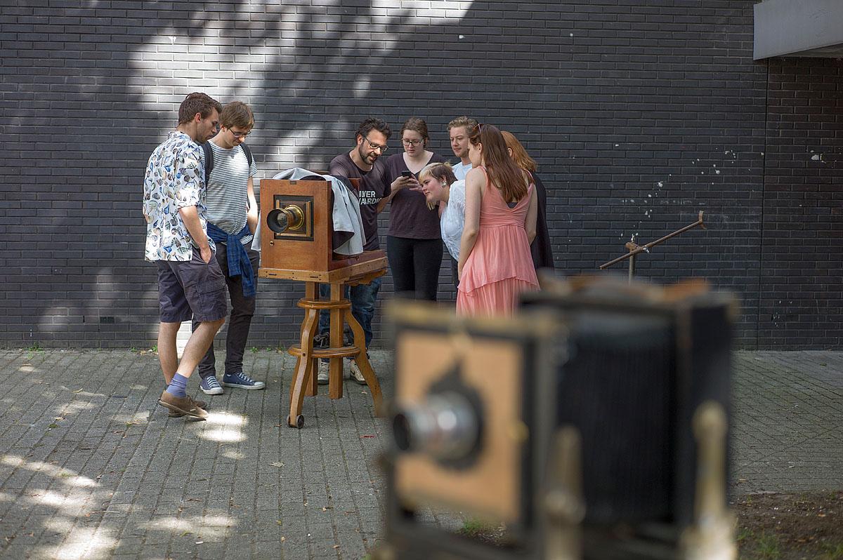 wet plate collodion workshop op KABK door Went&Navarro